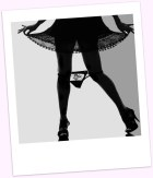 stylish silhouette woman legs loosing her underwear