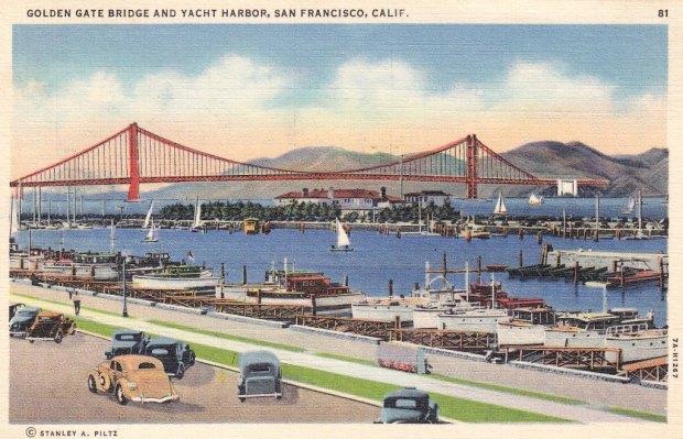 Kartu Pos Bergambar Jembatan Golden Gate san fransico - Puisi Sapardi Djoko Damono
